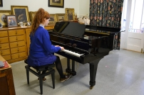 The grand piano is used for examinations